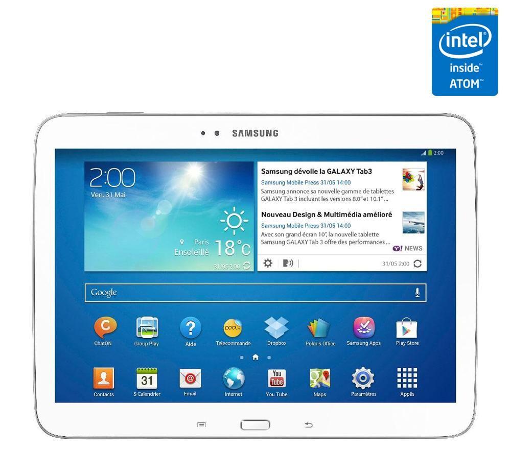 70f3b68eda3 SAMSUNG Galaxy Tab 3 WiFi 16 Go P5210 - blanc prix promo Carrefour 313.82 €  TTC