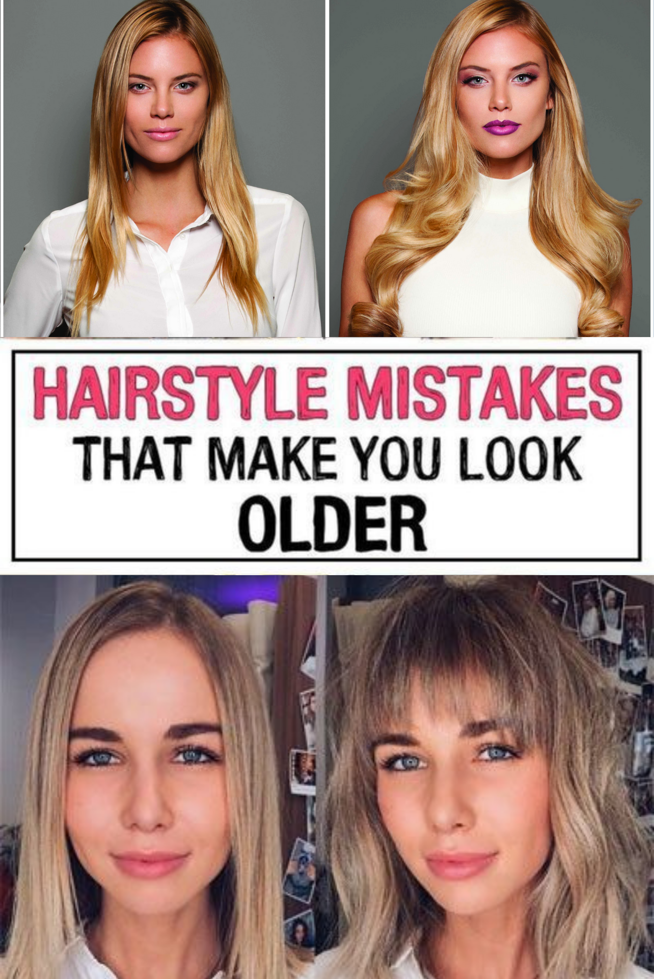 37 Hairstyle Mistakes That Are Aging You In 2020 Hair Advice Hairstyle Hair Mistakes