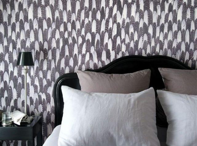 Un papier peint noir et blanc pour un mur élégant   Walls