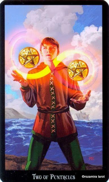 2 d'écus - Tarot sorcières par Ellen Dugan & Mark Evans