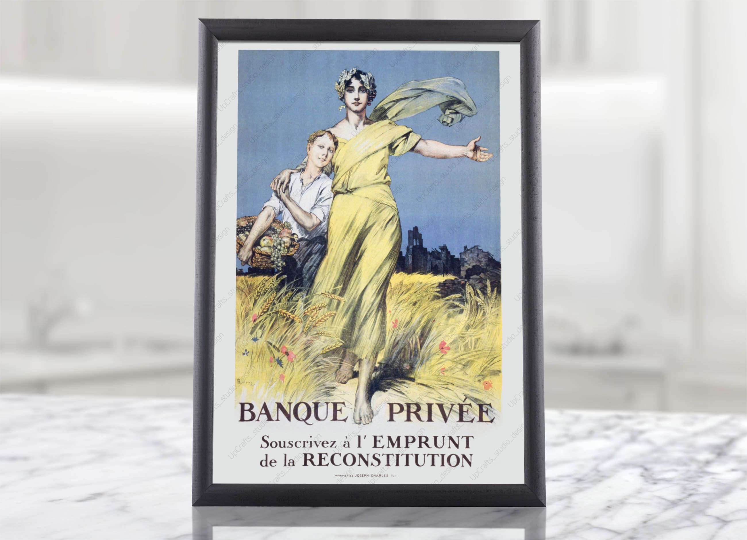 French Reconstruction Loan Printable Propaganda Poster