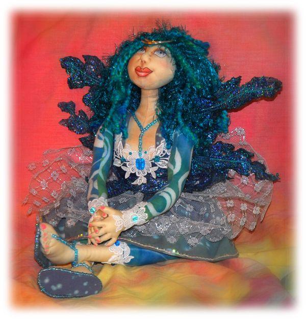 Blue Fairy, an art doll based on a pattern by Patti Medaris Culea