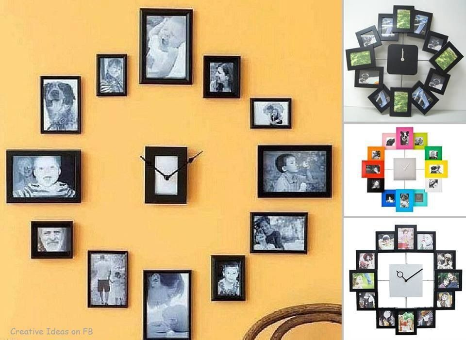 Cute Way To Fill Your Empty Wall With Clock Memories Pictures ...