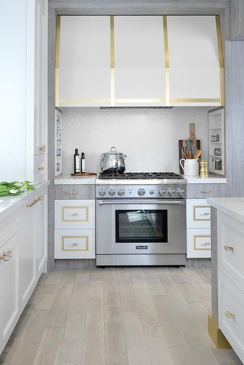 Gold Trim Kitchen Vent Hood Modern Kitchen Hood Kitchen Range Hood