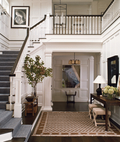 Beautiful Front Foyer Love The Stairs When We Build