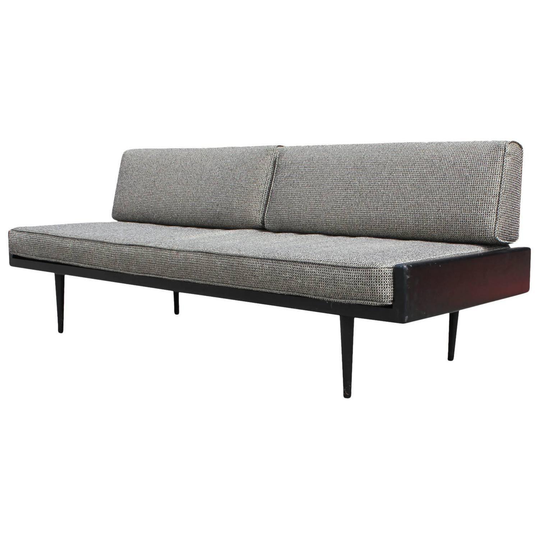 Sleek Armless Danish Style Sofa Or Daybed Sofa Danish Style Armless Sofa