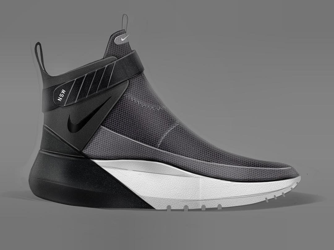 Continuing the Nike nsw exploration ... #footweardesign #footwearsketch…