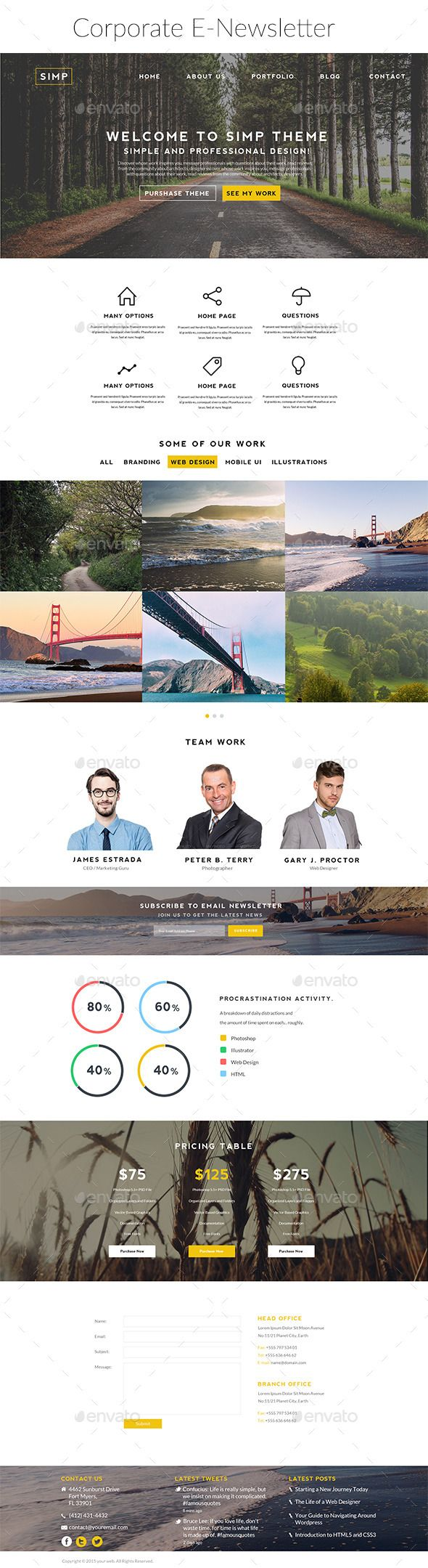 Corporate Newsletter Template Psd Download Here Http
