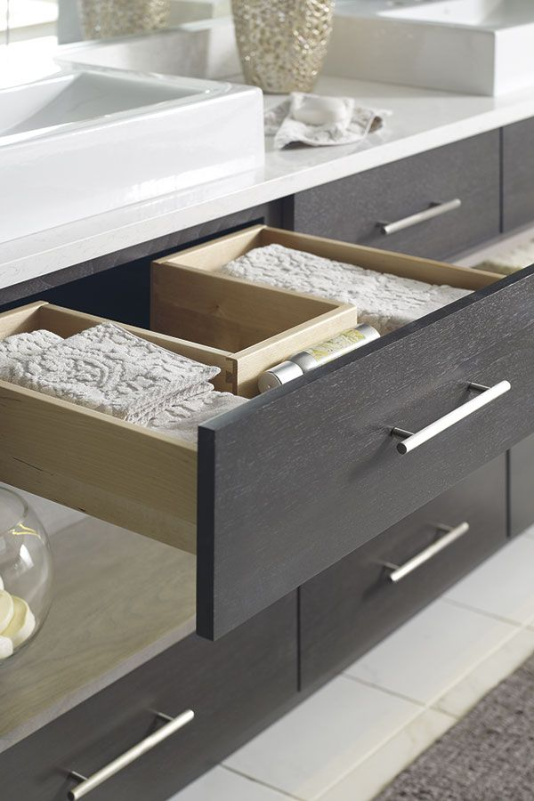 Our U Shaped Cabinet Drawer Prepped For Plumbing Allows A Chase To Surround The Pipes And Gives