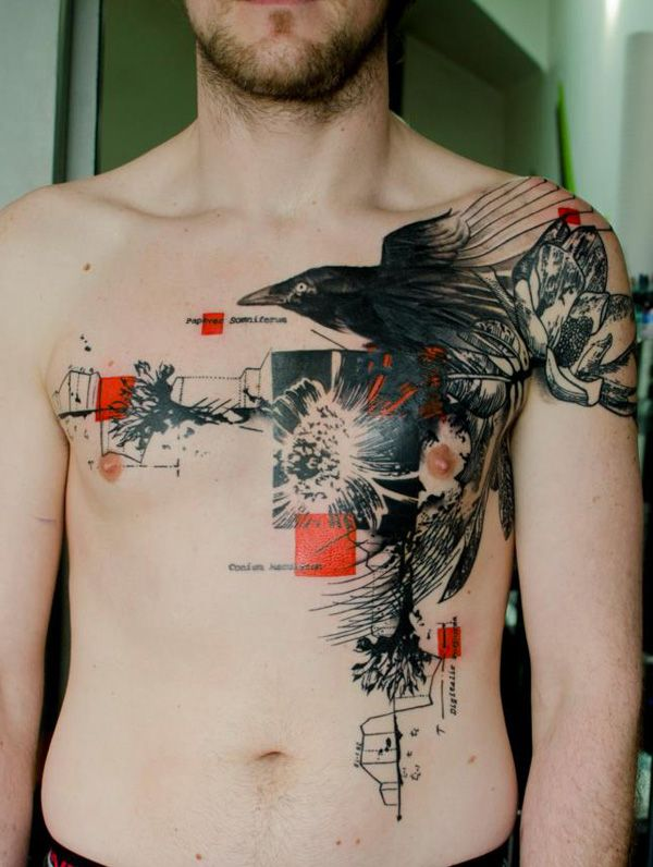 65 Examples Of Watercolor Tattoo Cuded Abstract Tattoo Designs Street Tattoo Crow Tattoo