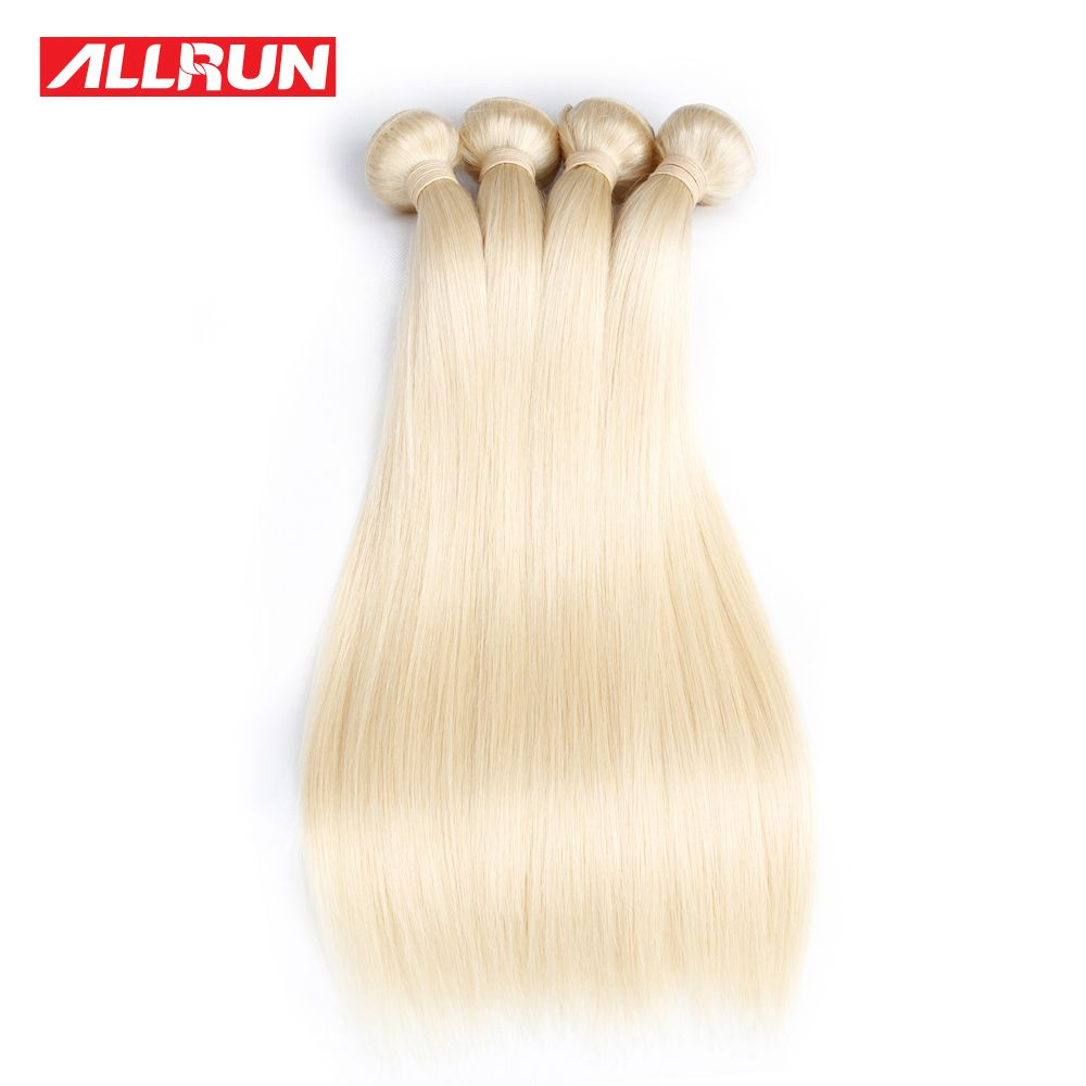 Allrun Peruvian Straight Hair Weave 613 Blonde Non Remy Hair