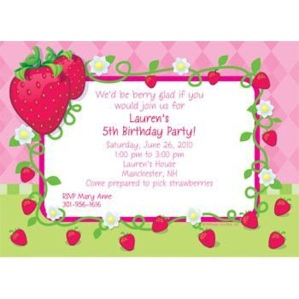 Check Out Strawberry Friends Personalized Invitation Each