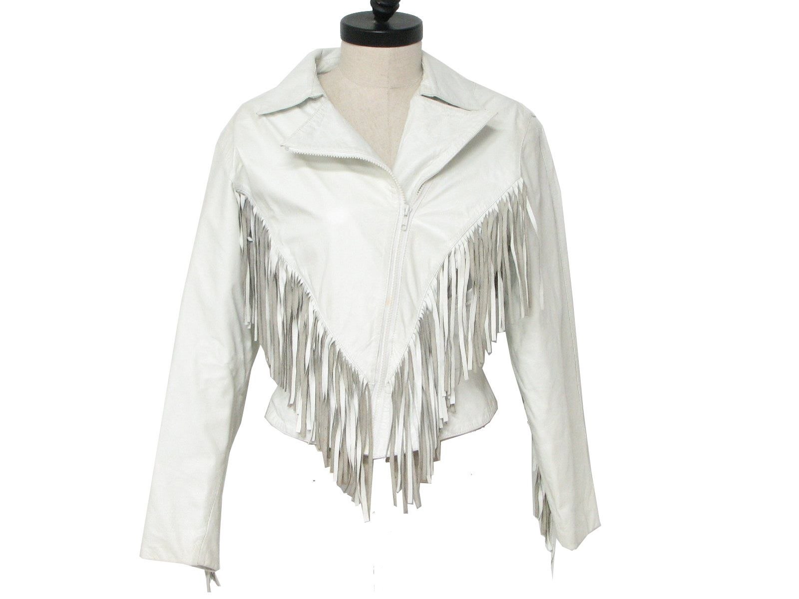 1980's Wilsons Womens Totally 80s Leather Jacket Fringe