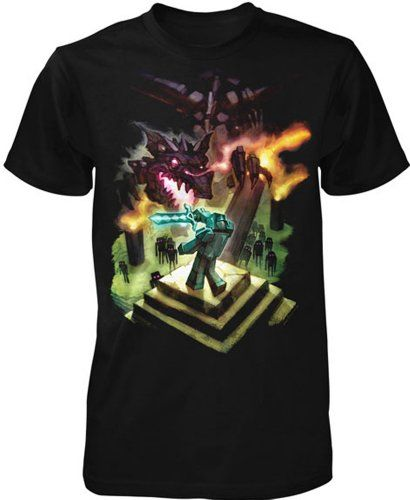 Minecraft Enderdragon Youth Tee Black... for only $13.95