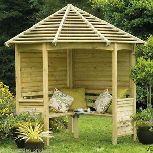 Exterior Super Ideas For Garden Bench With Roof Garden Arbour Seat Wooden Arbor Garden Structures