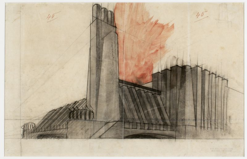 Lineas Y Fuerzas Dibujo De Arquitectura Dibujo Arquitectonico Futurismo