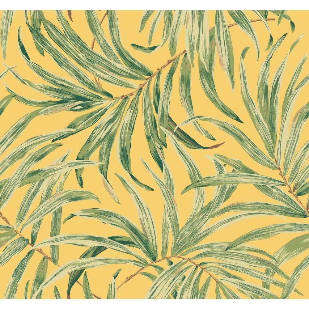 York Wallcoverings Tropics Bali Leaves Wallpaper Bright