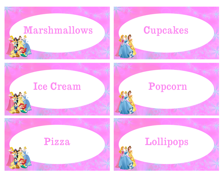 photograph regarding Free Printable Food Labels for Party known as Totally free Disney Princesses Meals Labels princess celebration inside 2019