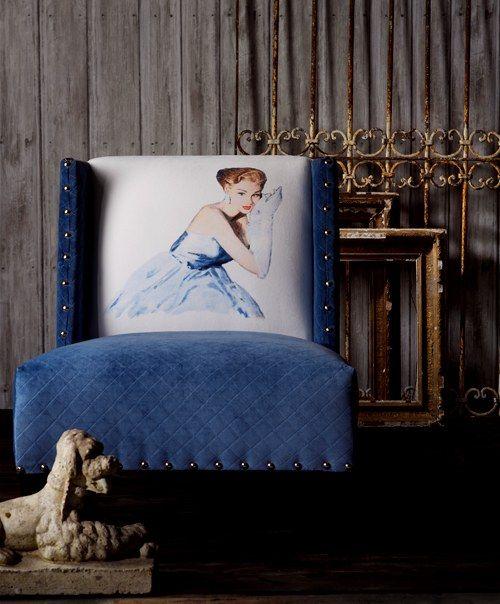 Grace Blue Velvet - Andrew Martin Design