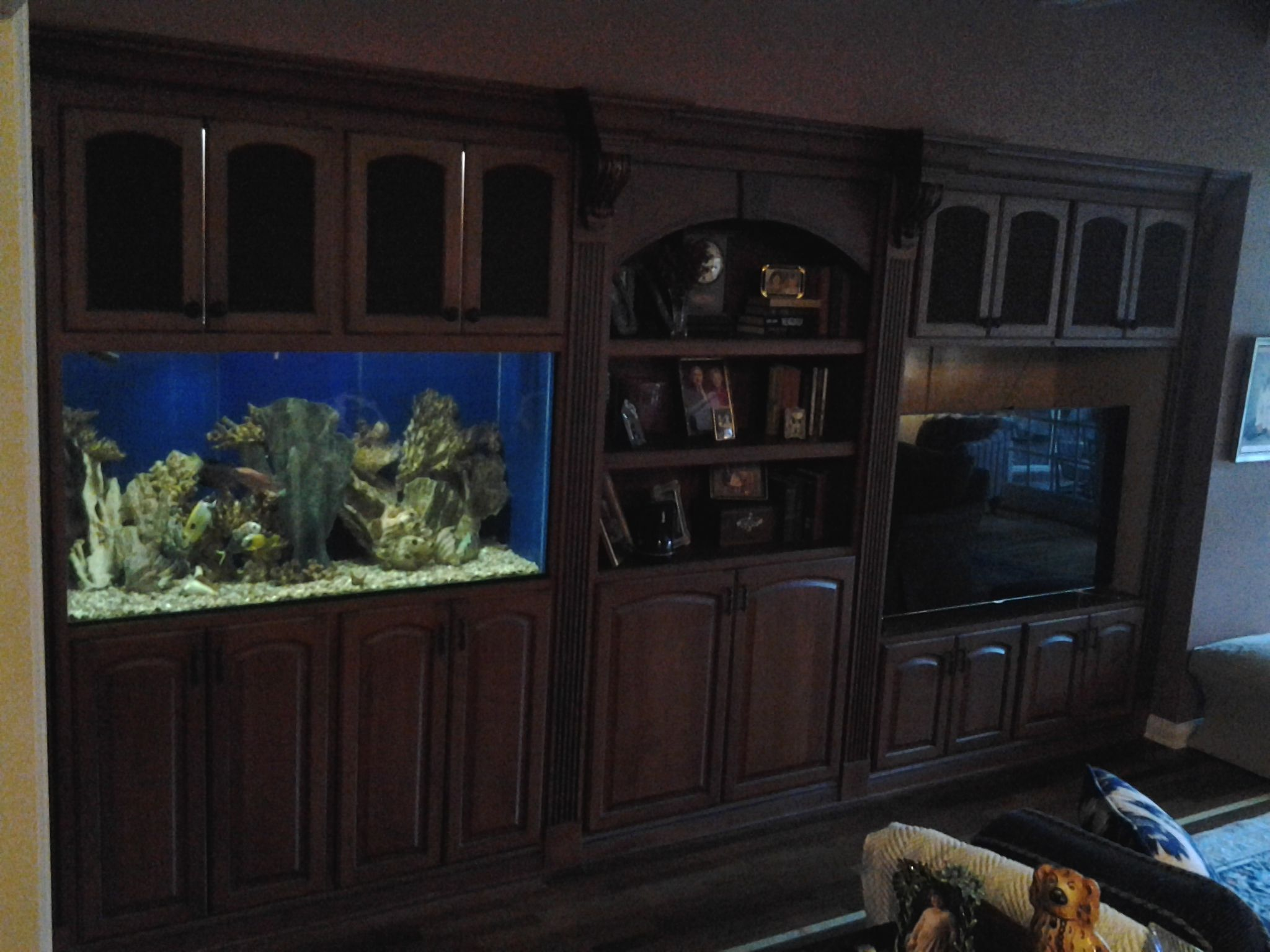 Entertainment Unit With Built In Aquarium