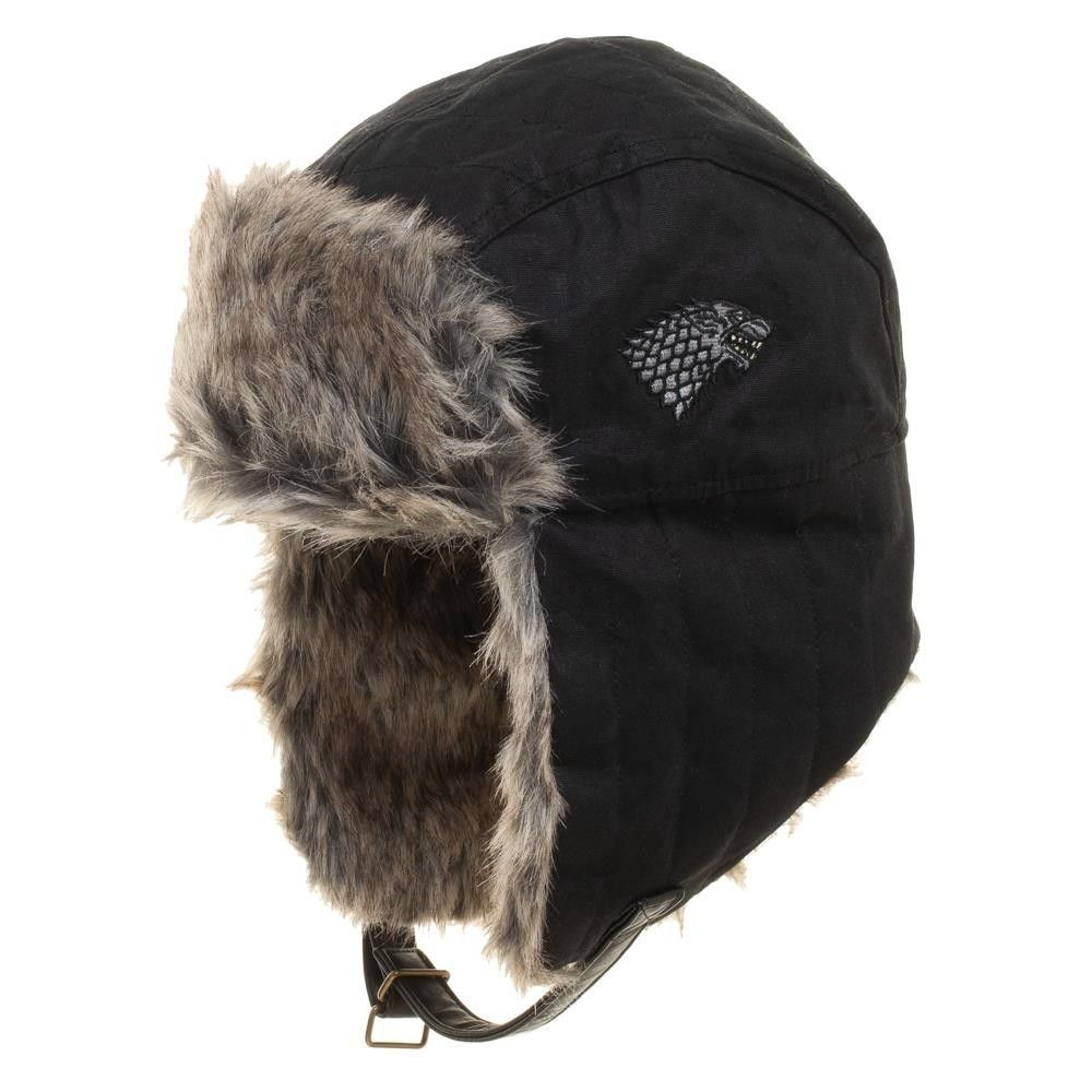 c86d53ecf4204 Official Game of Thrones Faux Fur Trapper Hat Winter is Coming GoT HBO Warm  Wolf  Bioworld  Trapper