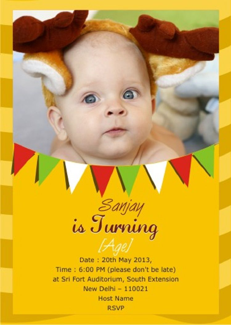 first birthday invitation indian free  First birthday invitations