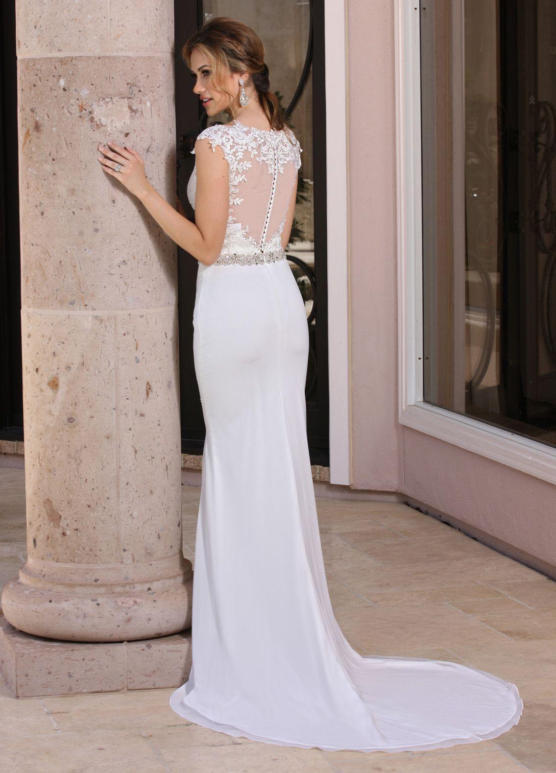 Back image davinci wedding gownsbridesmaid dressesq by davinci