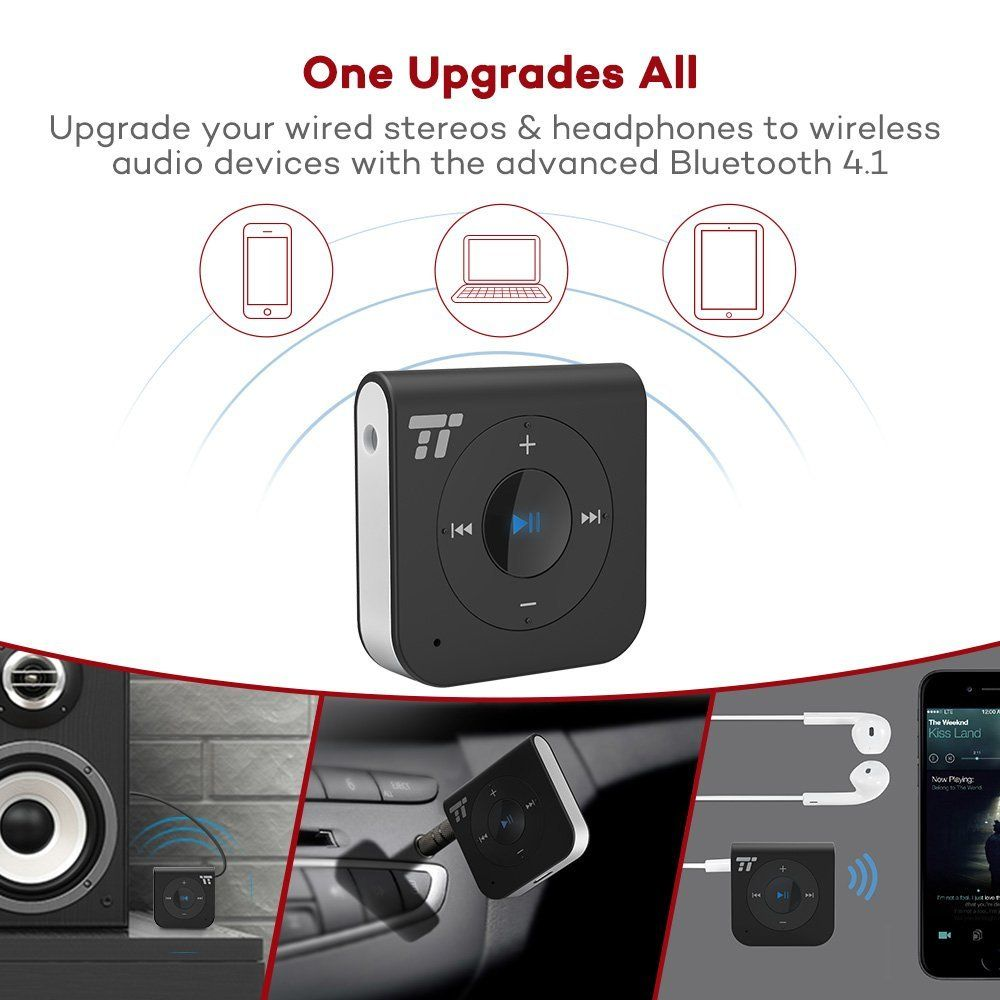 Mpow Bluetooth Receiver 40 A2dp Hands Free Calling Portable Wireless Audio Music Adapter