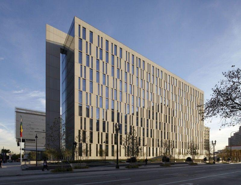 Lapd Police Administration Building Design Exterior 1 オフィスビル 建築 ファサード
