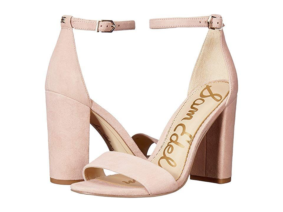 3fb36c0d370f Sam Edelman Yaro Ankle Strap Sandal Heel (Seashell Pink Kid Suede Nubuck)  Women s Dress