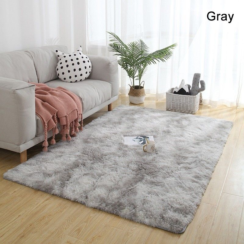 Contemporary Soft Polyester Shaggy Floor Mat Rectangular Washable Area Rug 3 Sizes In Brown Gray Gradient Washable Area Rugs Rugs On Carpet Rugs In Living Room #washable #living #room #rugs