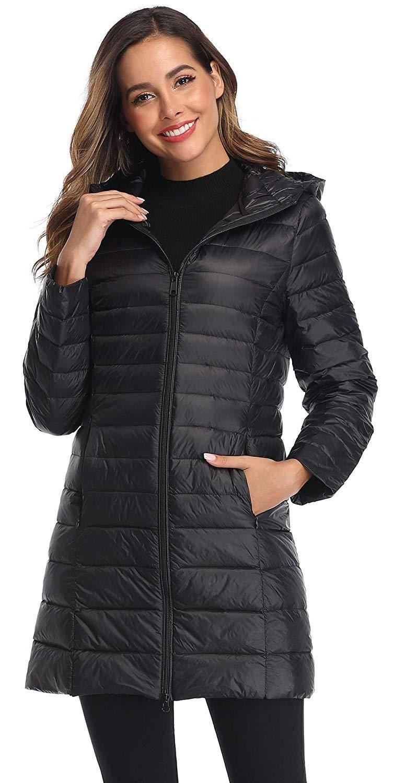 Obosoyo Women's Winter Packable Down Jacket Plus Size