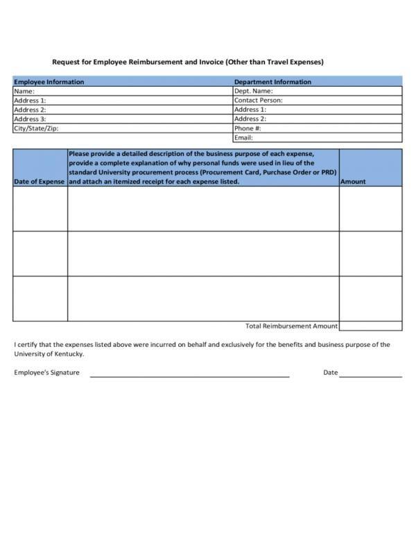 Employee Reimbursement Form Check more at   - check request form