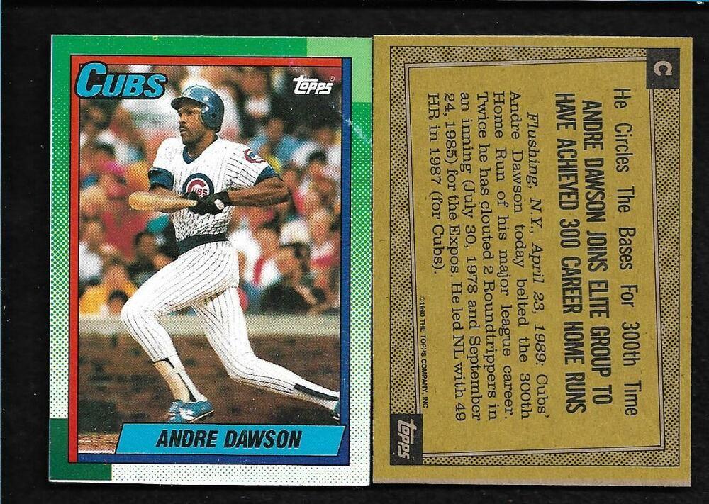 1990 andre dawson topps wax box bottom baseball card c
