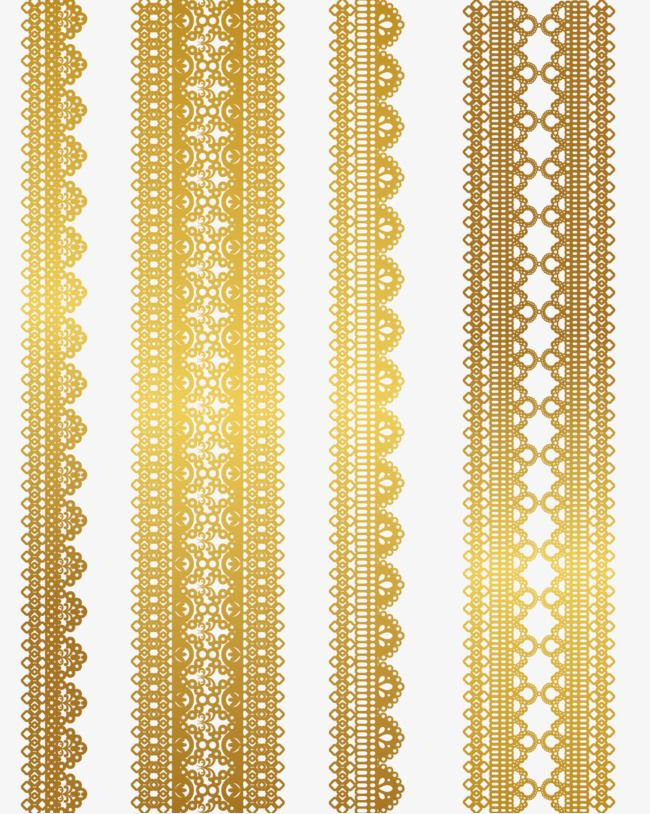 Gold Lace Pattern Vector Material Png And Vector Gold Lace Golden Pattern Lace Pattern