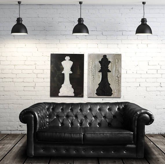 Chess Piece Art King And Queen Board Game Decor Chess