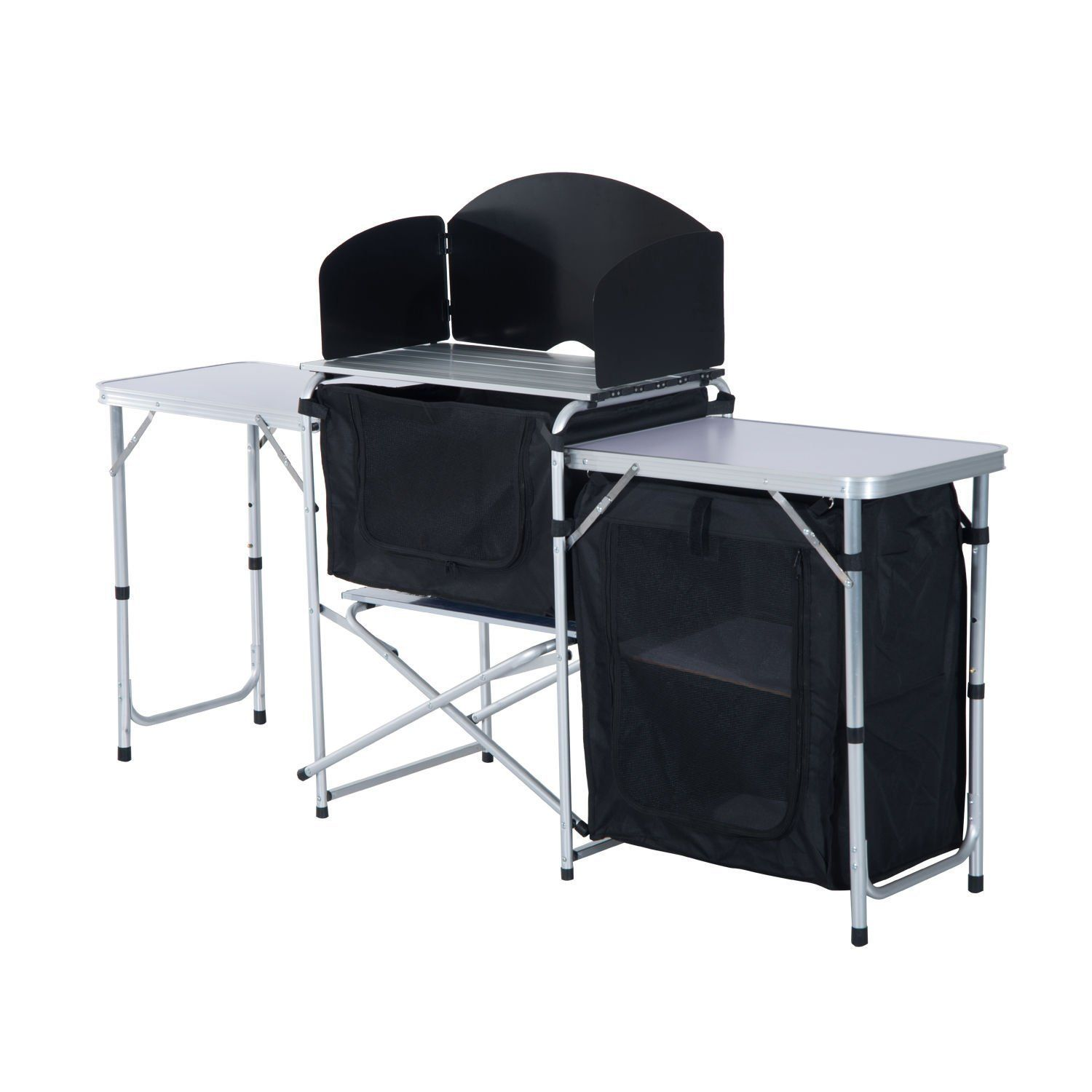 Amazon.com : Outsunny 4.5\' Deluxe Portable Fold-Up Camp Kitchen ...