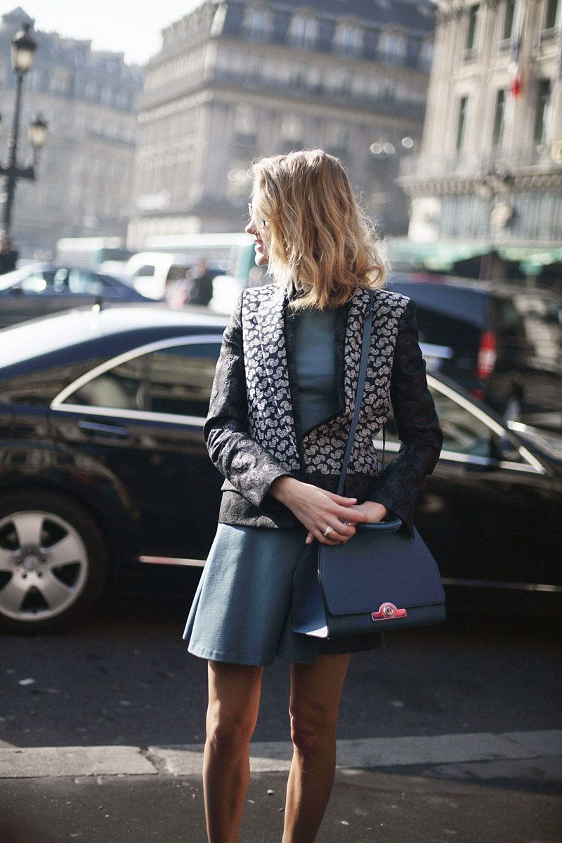 Fotos de street style en Paris Fashion Week: Natalia Vodianova