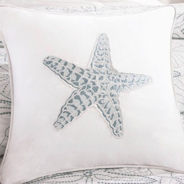 Harbor House Maya Bay Cotton Square Throw Pillow ($40) ❤ liked on Polyvore featuring home, home decor, throw pillows, white, patterned throw pillows, white toss pillows, starfish throw pillow, cotton throw pillows and square throw pillows