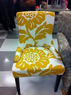 The Dining Chair Weekend Finds Yellow Accent Chairs Dining Chairs Patterned Chair