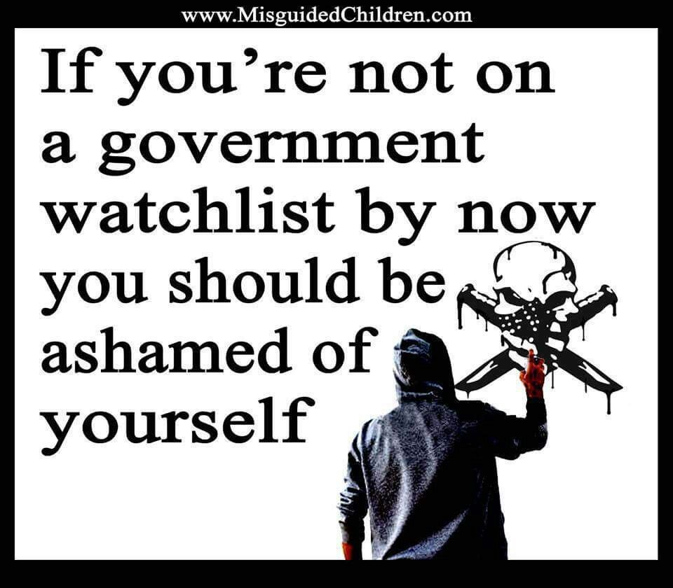 You should be on a watchlist by now!