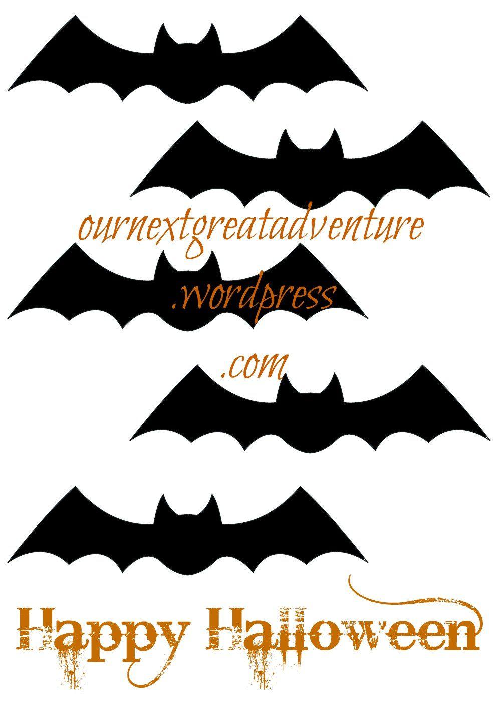 Printable halloween bats -  Happy Halloween Bat Printable Thissarahloves