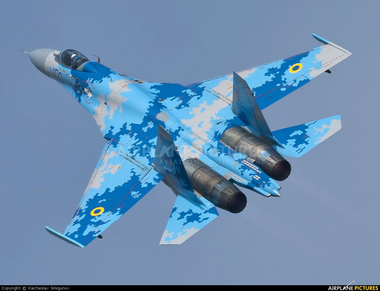 Ukrainian Su27 in pixel camo Fighter aircraft, Fighter