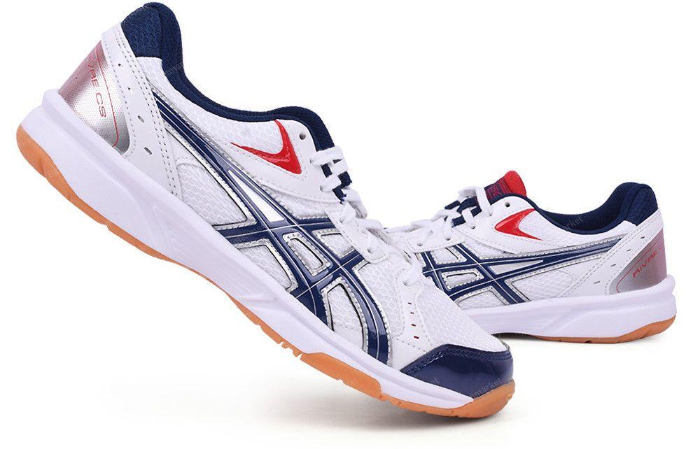 Asics Rivre Cs Badminton Shoes Unisex Indoor Shoes White Volleyball Tvra03 0150 Asics Badminton Shoes Indoor Shoe Asics Sneaker
