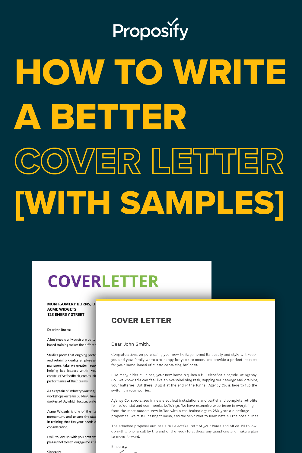 5 Simple Steps to Writing a Better Proposal Cover Letter ...