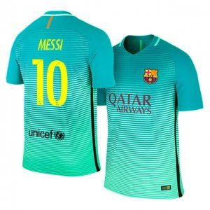 e047d2a77 FC Barcelona Third 16-17 Season  10 Messi Green Soccer Jersey  J182 ...