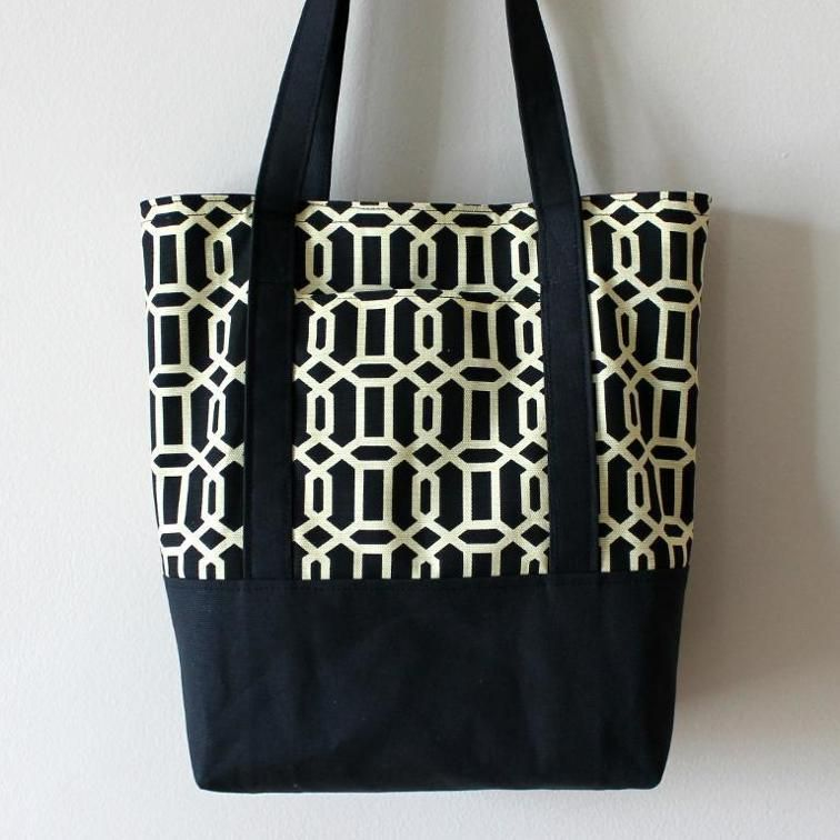 Lined Canvas Tote | Craftsy | she\'s crafty | Pinterest | Bag, Tote ...