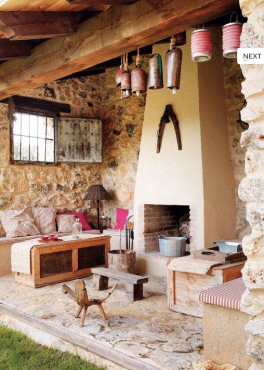 Chimenea exterior Идеи для дома pinterest