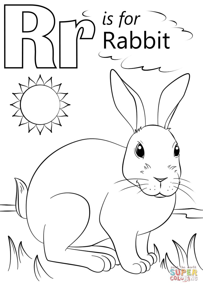 Letter R Is For Rabbit Super Coloring Alphabet Coloring Pages Preschool Coloring Pages Abc Coloring Pages