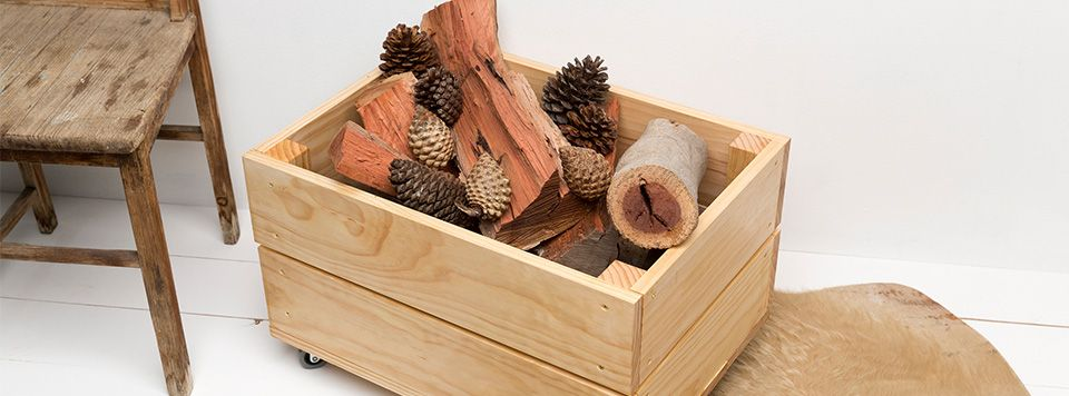 indoor firewood box